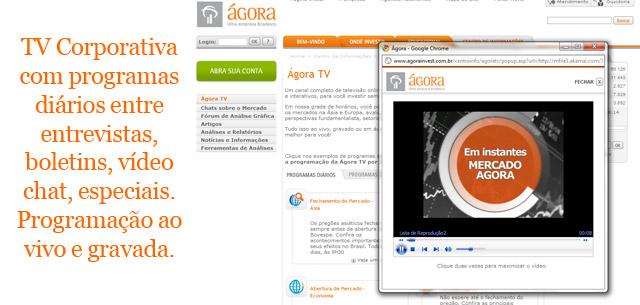 TV corporativa da Ágora Invest