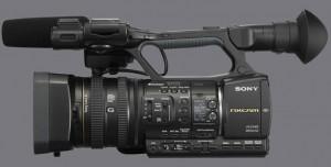 A NX 5 da Sony está entre um dos equipamentos para locação